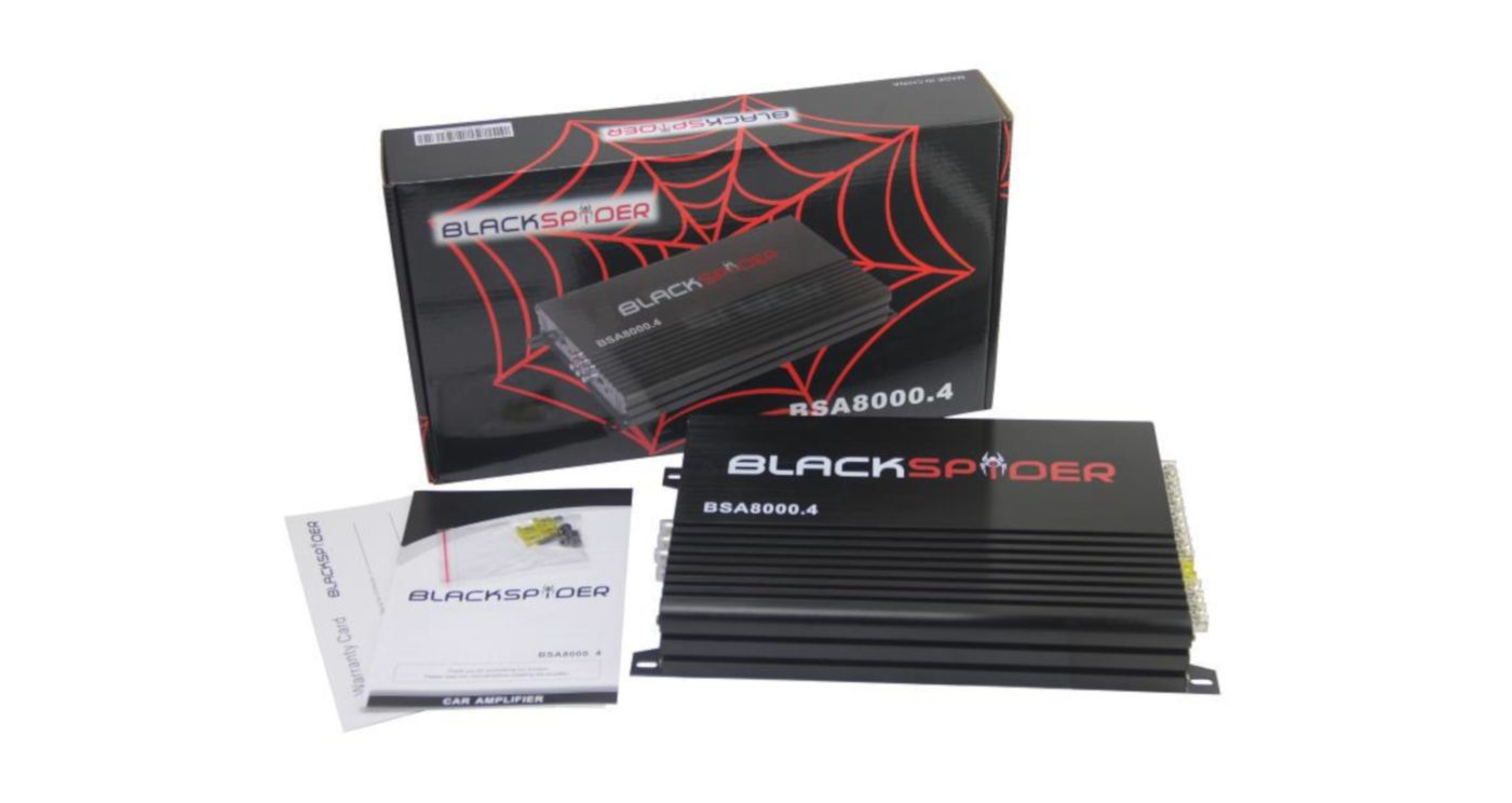 Blackspider 8000w 4ch amplifier Bsa8000.4